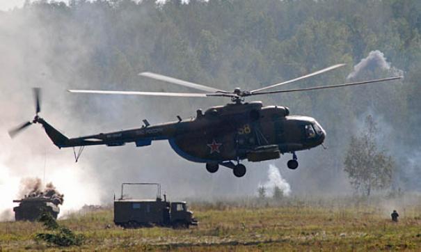 Экипаж Ми-8 не пострадал
