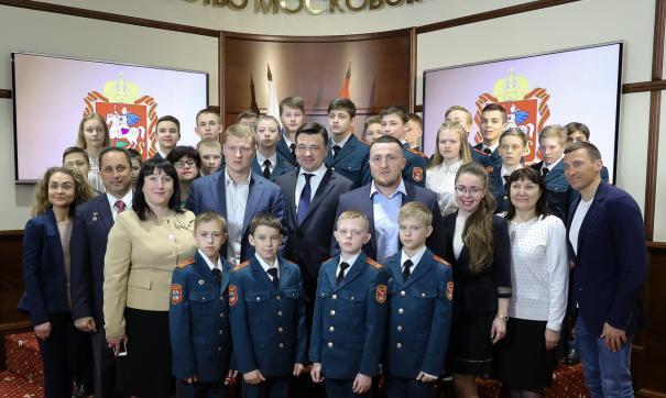 Кадеты встретились с губернатором Московской области