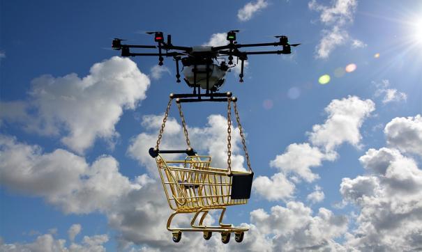 Доставка дронами легче и дешевле обычной
