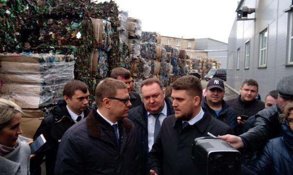 Алексей Текслер посмотрел места  захоронения, сортировки и переработки мусора