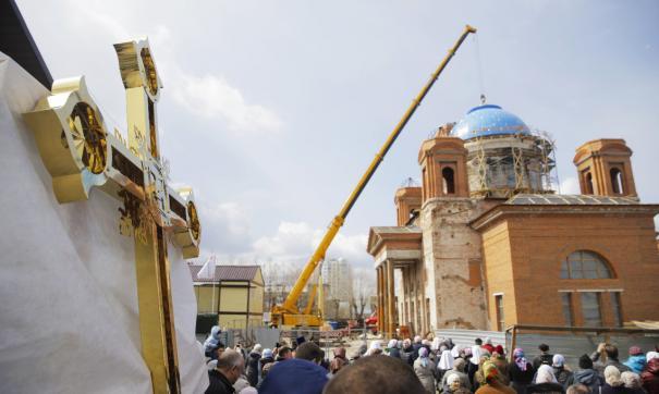 В Екатеринбурге полным ходом идёт реконструкция храма на ВИЗе