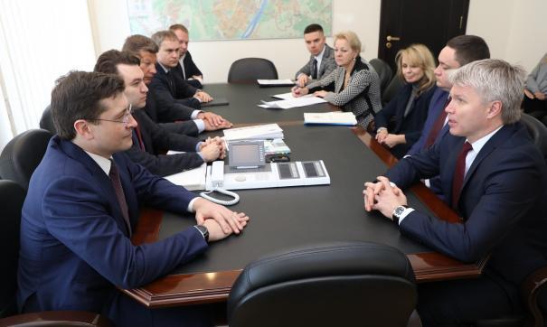 Организацию мероприятия глава региона обсудил с главой Минспорта России Павлом Колобковым