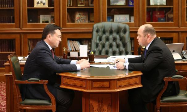 Губернатор встретился с министром Русланом Тагиевым