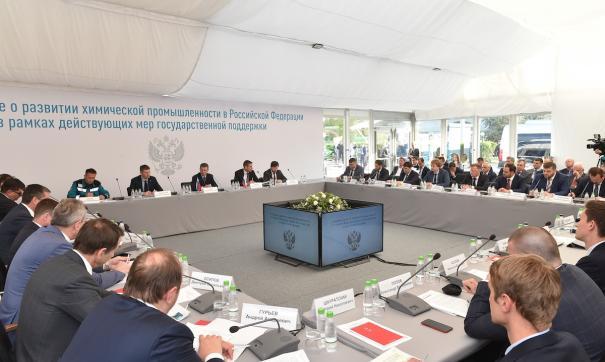 Зампред России Дмитрий Козак поддержал предложения по развитию химической промышленности в регионе.