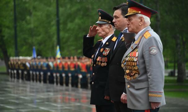 Губернатор Московской области с ветеранами