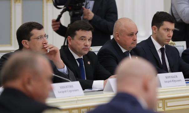 Губернатор Московской области Андрей Воробьев на заседании