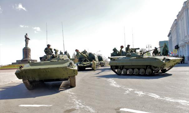 В Нижнем Новгороде прошла генеральная репетиция военного парада
