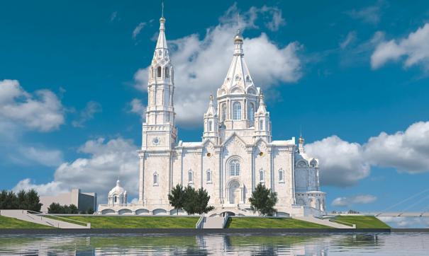 Так будет выглядеть собор на Стрелке