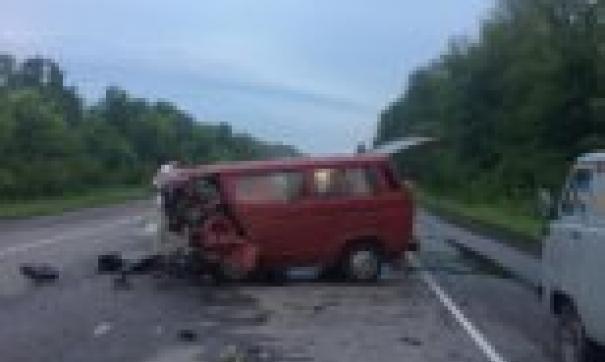 Все остальные 8 человек погибли при столкновении иномарки с микроавтобусом.