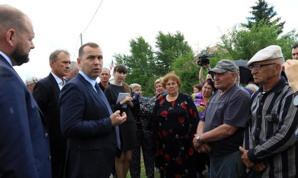 Вадим Шумков незапланированно встретился с жителями села Степное