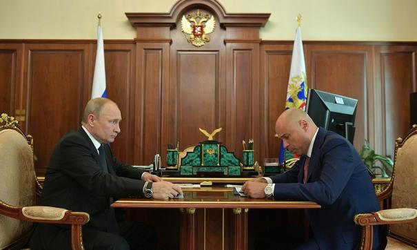 Липецкий губернатор отчитался перед Путиным о девяти месяцах работы