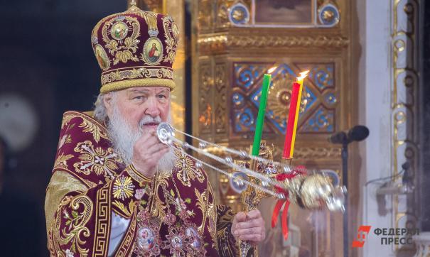 Патриарх Кирилл провел службу и освятил собор в Коневском Рождество-Богородичном монастыре
