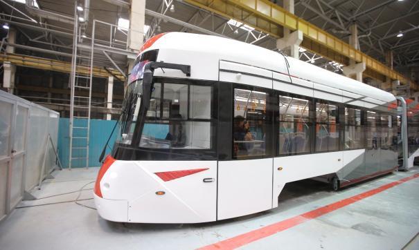 «Уралтрансмаш» показал новый ультрасовременный трамвай