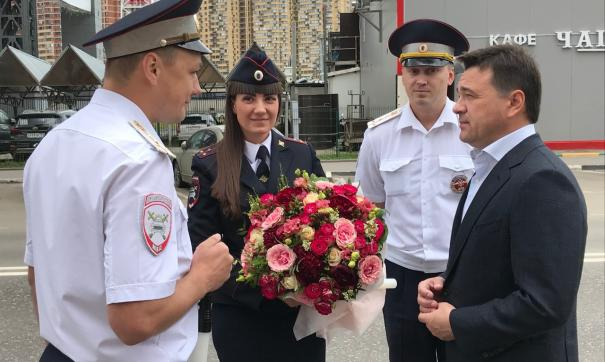 Воробьев поздравил сотрудников ГИБДД с профессиональным праздником