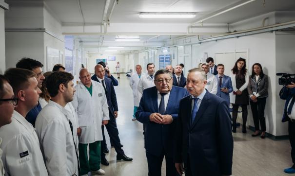 Врио губернатора Санкт-Петербурга посетил реабилитационный центр для инвалидов