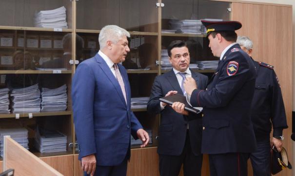 Владимир Колокольцев и Андрей Воробьев посетили люберецкий отдел по вопросам миграции
