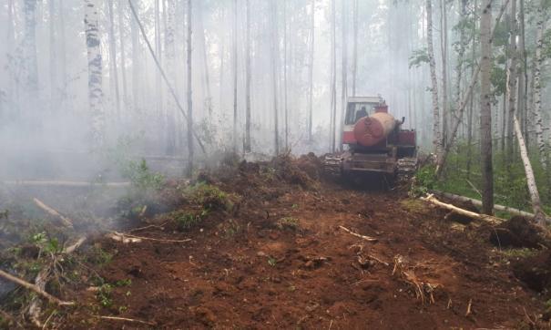 Основная доля лесных пожаров приходится на Иркутскую область