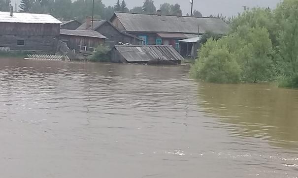 Наводнение в поселке Полинчет в Иркутской области