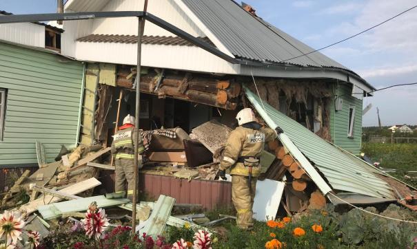 В Свердловской области взорвался частный дом