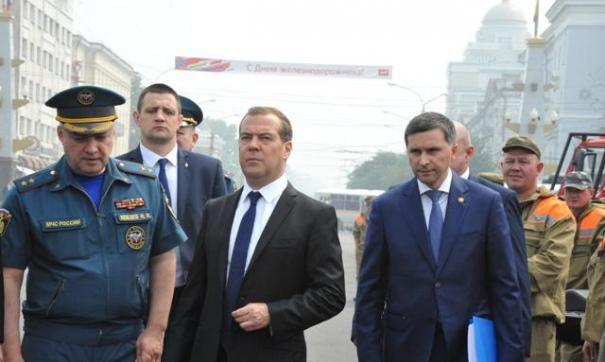 Дмитрий Медведев поручил разобраться с пожарами в Забайкалье