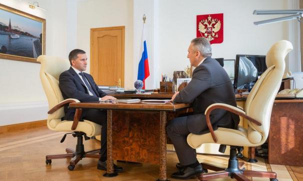 С губернатором Тюменской области встретился министр природных ресурсов и экологии Российской Федерации Дмитрий Кобылкин