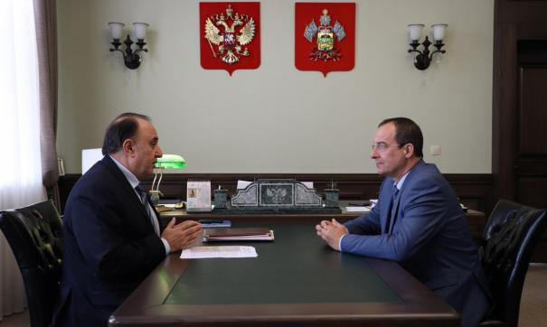 Спикер парламента Кубани встретился с представителем МИД