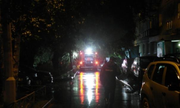 пожар на улице Гусарова