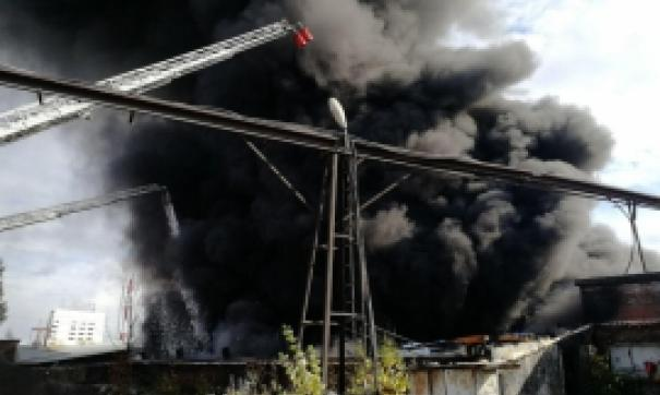 пожар на асфальтовом заводе