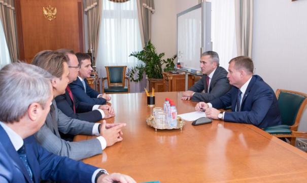 Губернатор Тюменской области встретился с заместителем президента — председателя правления банка ВТБ Денисом Бортниковым
