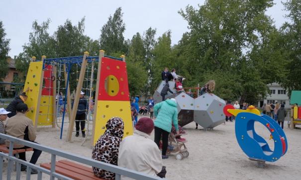 Открытие детской площадки в Сухом Логу