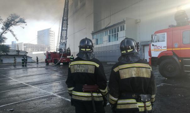 Пожар в торговом центре Владивостока