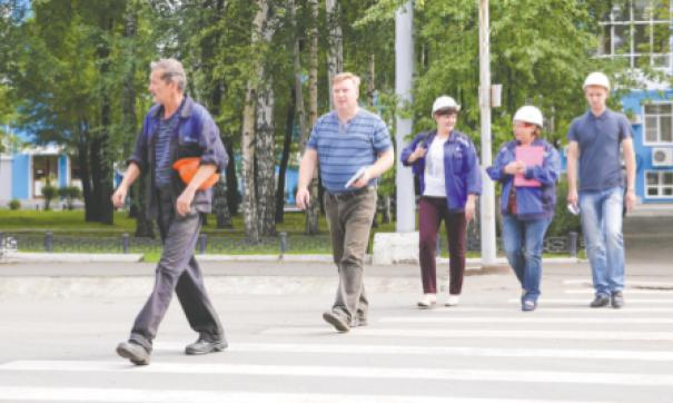 Пешеходы на ВСМПО