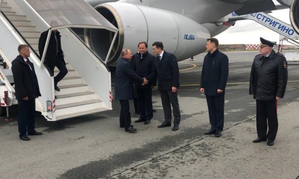 Встреча Владимира Путина в нижегородском аэропорту