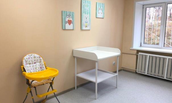 Для удобства родителей были закуплены пеленальные столики, стул для кормления