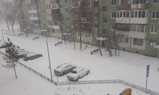 Еще утром на снег не было и намека