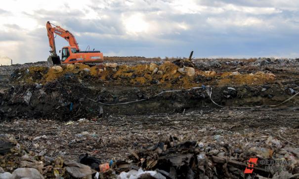 На полигоне ТБО нет трудностей с распределением мусора