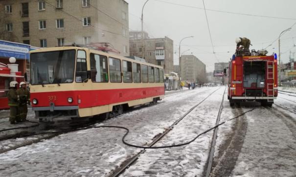 Возгорание потушили шестеро пожарных