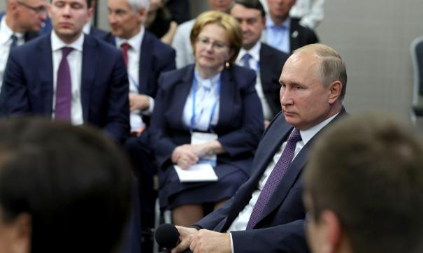 Владимир Путин посещает Калининградскую область