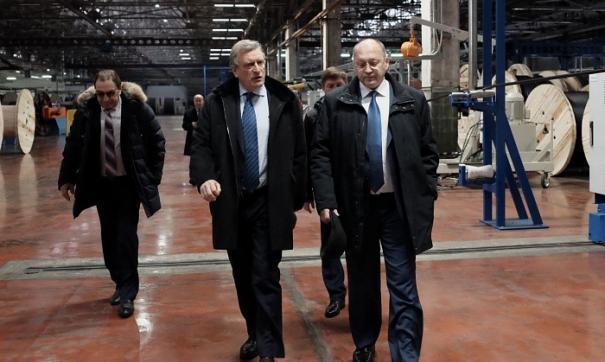 Губернатор посетил промплощадку завода