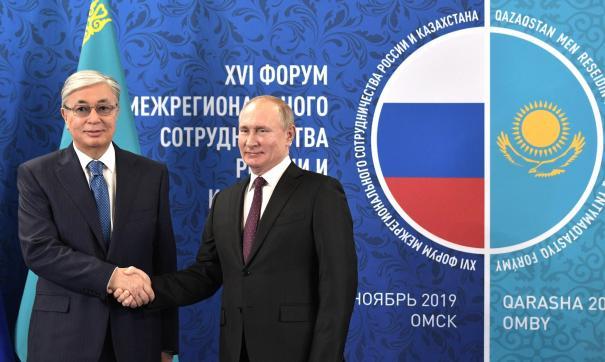 Президенты России и Казахстана приняли концепцию программы приграничного сотрудничества