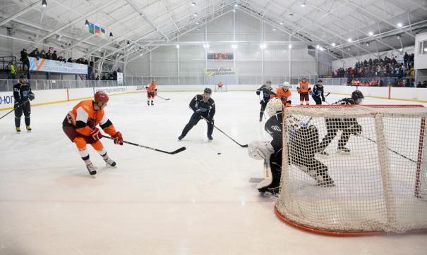 Хоккейный матч Роснефти в Нижневартовске