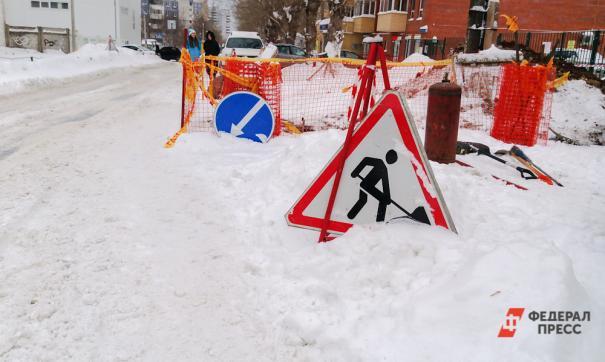 Башкирские коммунальщики уложили асфальт на снег