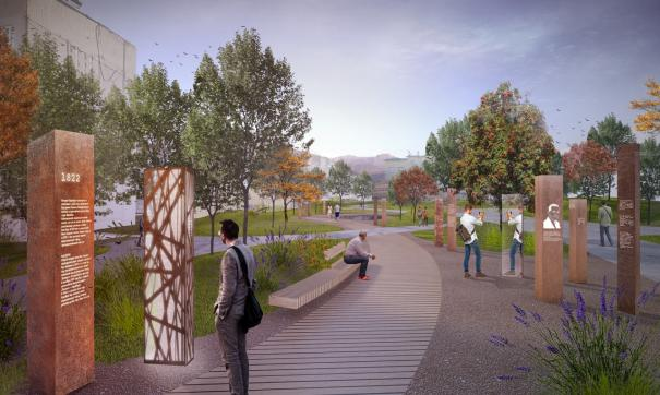 Аллея ветеранов – ключевая территория в системе общественных пространств формируемого нового городского центра Карабаша