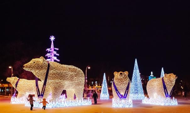 В Тюмени выбирают имена для светящихся белых медведей