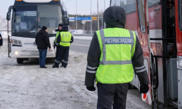 Массовая проверка междугородних автобусов прошла сегодня на Ново-Московском тракте