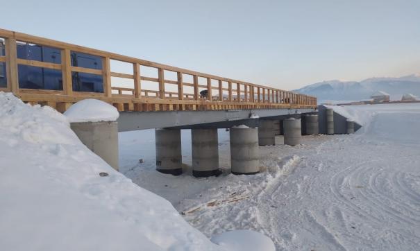 Новый мост построили на автодороге, через которую проходят популярные турмаршруты