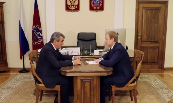 Сергей Меняйло встретится с главой региона Виктором Томенко