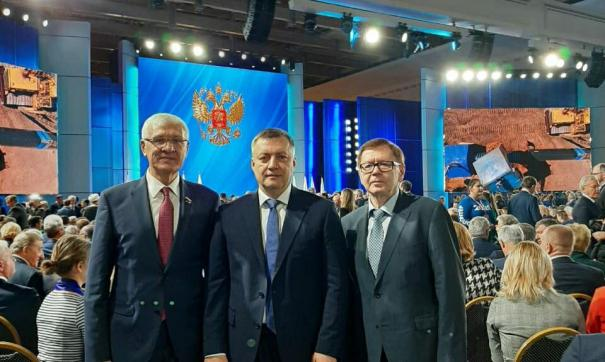 Игорь Кобзев, как и прочие губернаторы регионов лично присутствовал в московском манеже