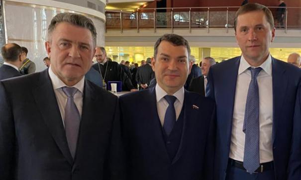 Андрей Шимкив (слева) на послании президента РФ