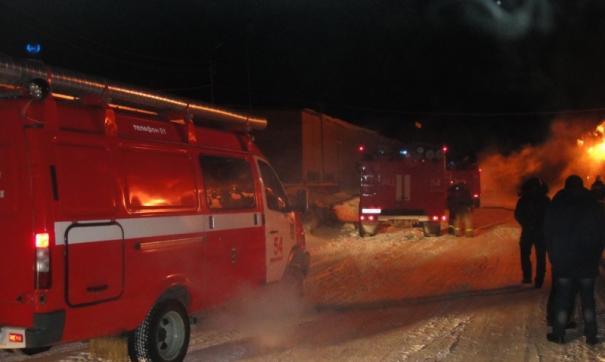 Пожар в Ханты-Мансийске